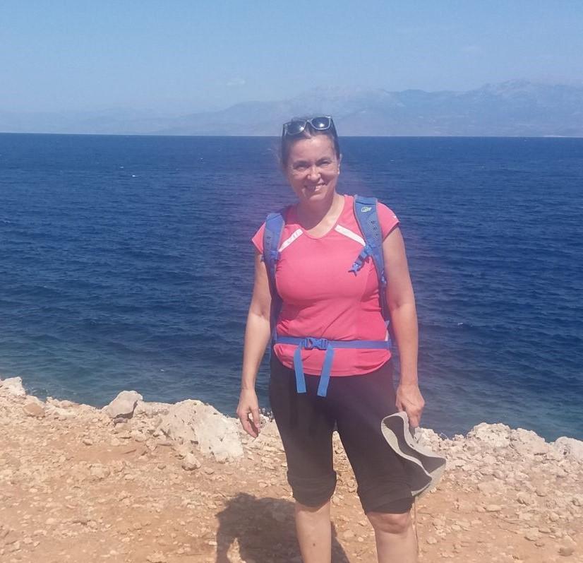 Evgenia Travel the Greek Way owner seaside hiking