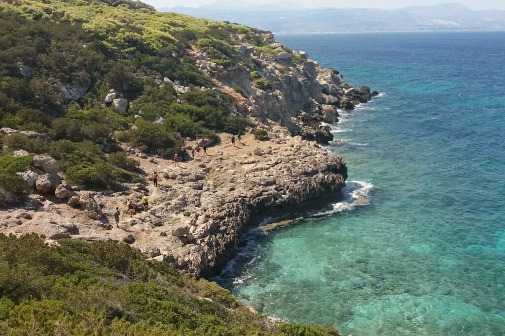 Hiking seaside Peloponnese Greece