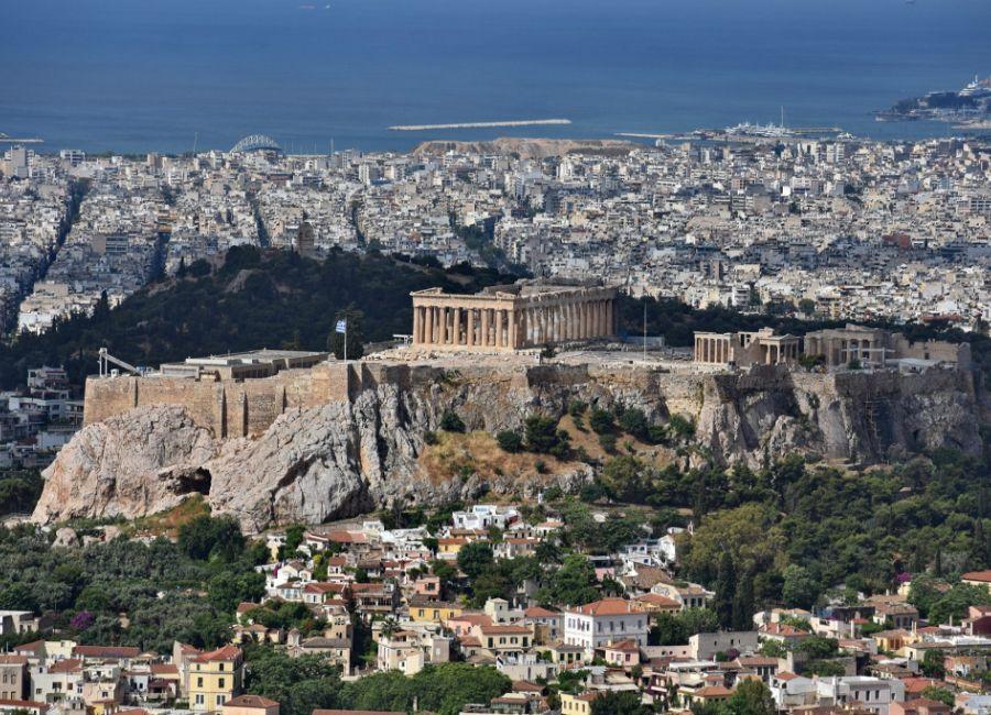 Acropolis - Parthenon with view to pireaus