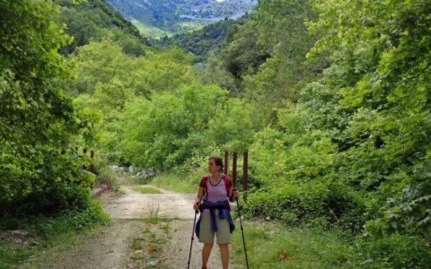 Greek female hiking