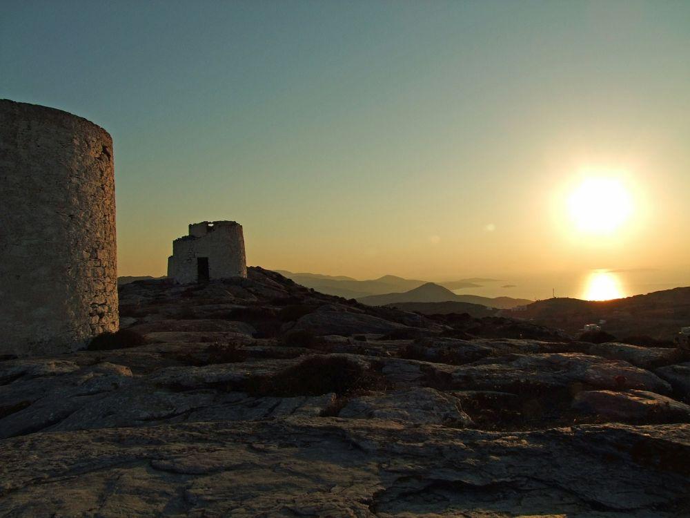 Amorgos Greek Island sunset