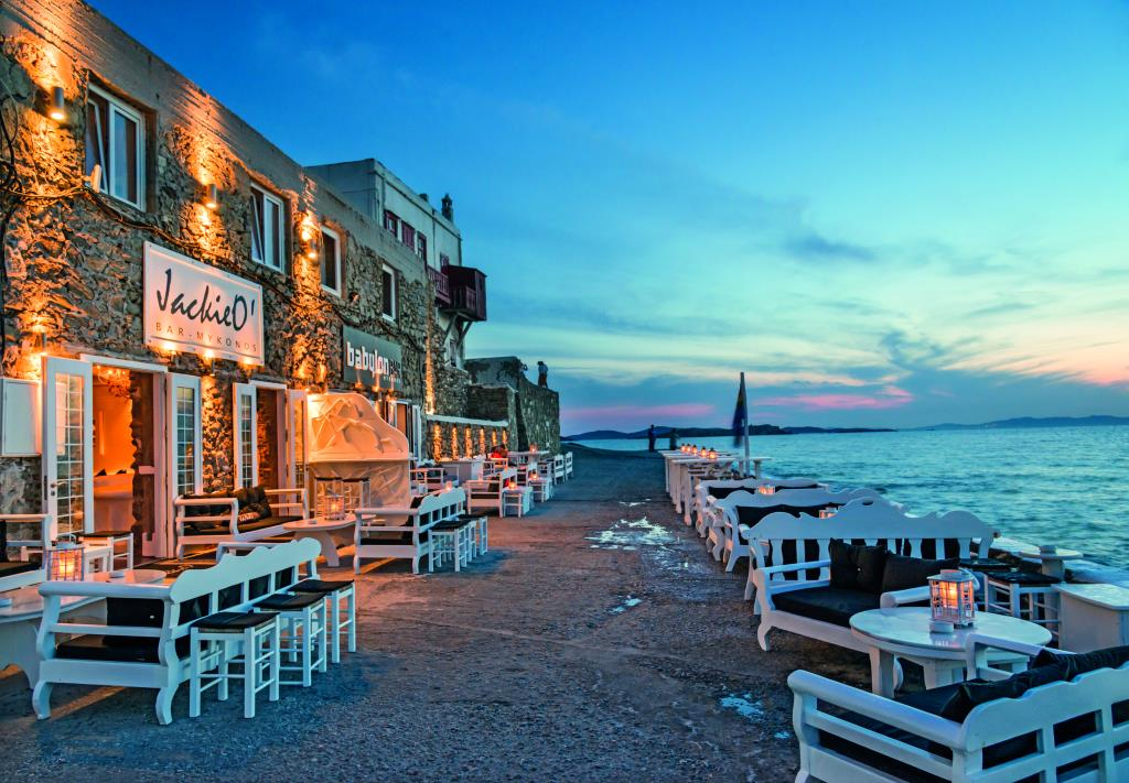 Mykonos seaside bar