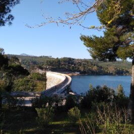 The Dam in marathon Lake Athens Greece