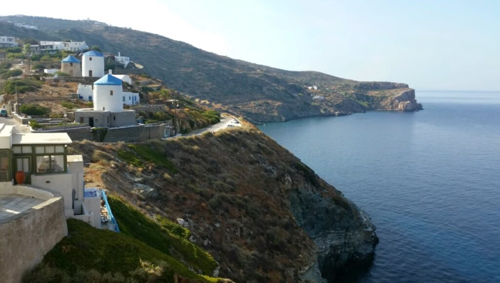 Sifnos village and seaside view
