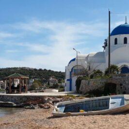 Selinia village in Salamina island