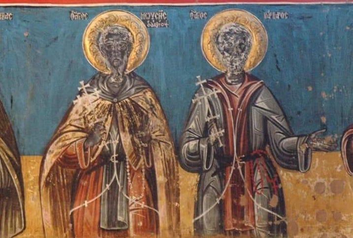 black Ethiopian saints in Milies Pelion