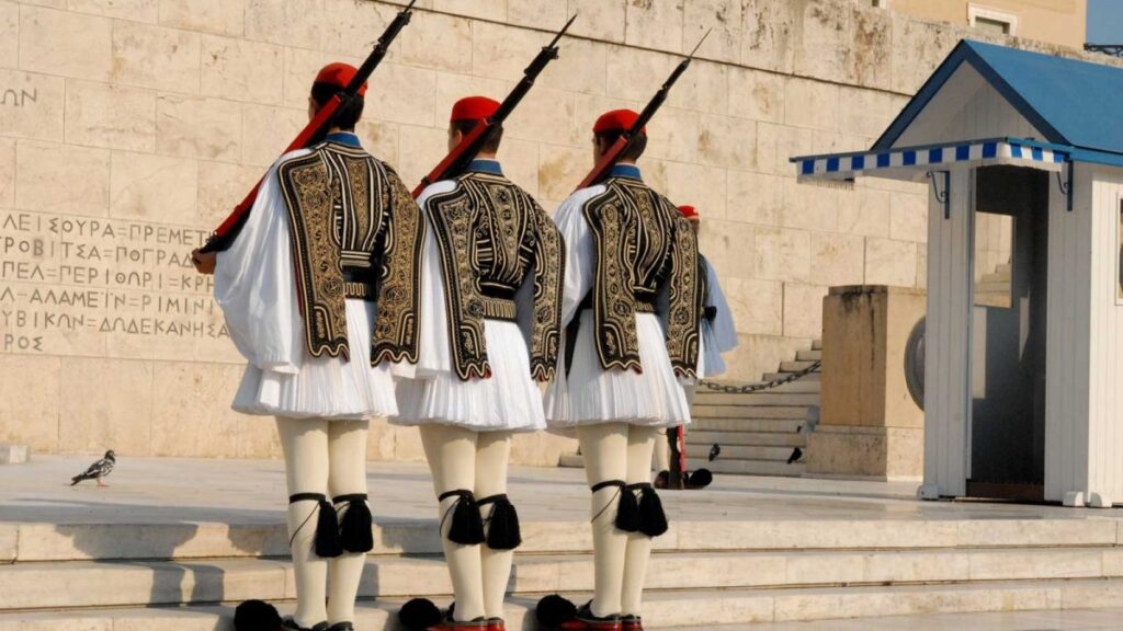 Greek parliament special guerds - evzones