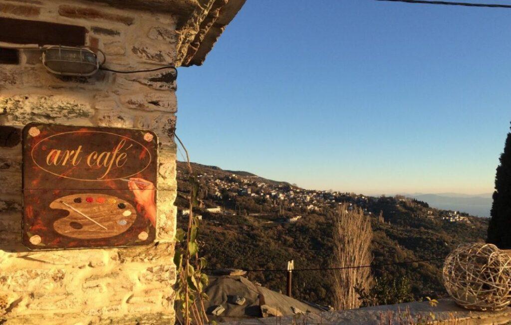 Art cafe in Makrinitsa Pelion