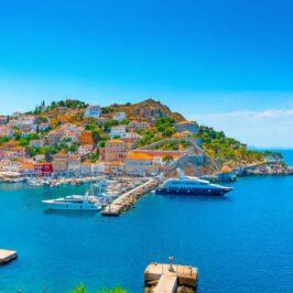 The port of Hydra Island