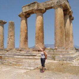 Evgenia at Ancient Corinth's Apollo Temple